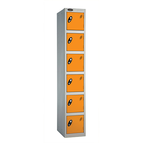 6 Door Locker D:457mm Silver Body &Orange Door