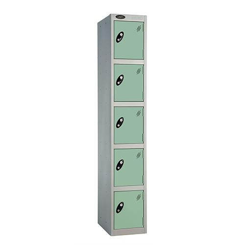 5 Door Locker D:305mm Silver Body &Jade Door