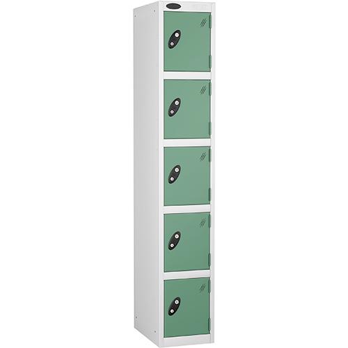 5 Door Locker D:457mm White Body &Jade Door
