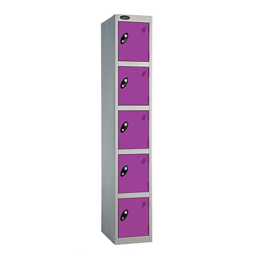 5 Door Locker D:457mm Silver Body &Lilac Door
