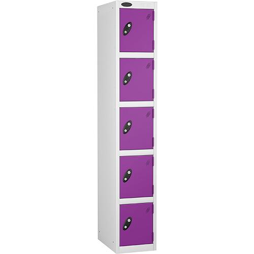 5 Door Locker D:457mm White Body &Lilac Door
