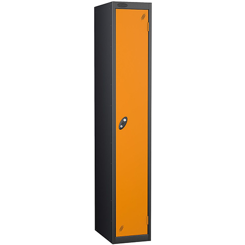 Black Body Lockers 12X18 Single Orange Door