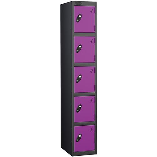 Black Body Locker 12x18 Five Lilac Doors