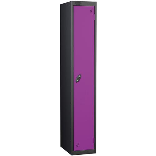 Black Body Lockers 12X18 Single Lilac Door