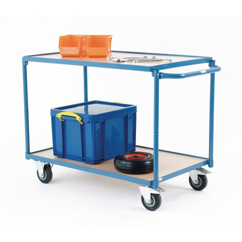 Table Top Cart 850x500mm With 2 Shelves &Flat Handles