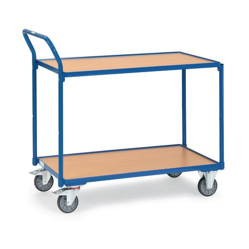 Table Top Cart 850x500mm With 2 Shelves &Angled Handles