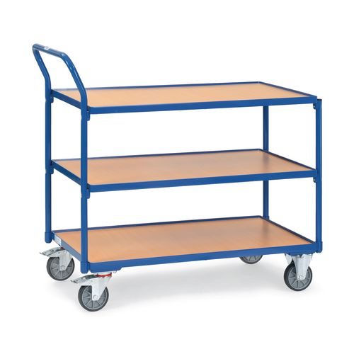 Table Top Cart 850x500mm With 3 Shelves &Angled Handles