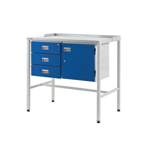 Flat Teamleader Workstation With Triple Drawer &Cupboard 920.1000.460