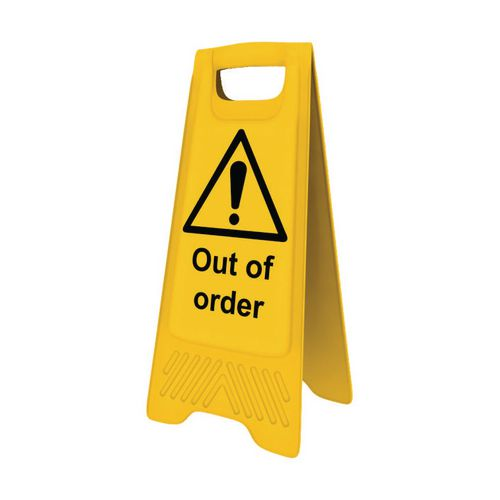 Heavy Duty A-Board 'Out Of Order'
