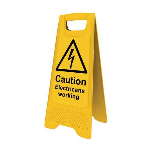 Heavy Duty A-Board Caution Electricians Working