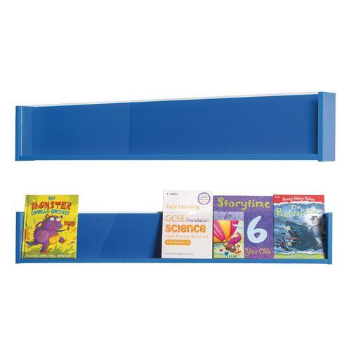 Shelf Style Wall Mounted Display  Blue