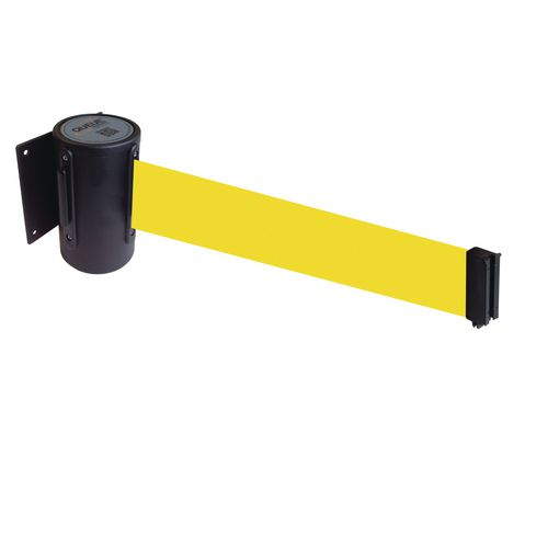 Wallmaster 400 Black Retractable Wall Mount Yellow Belt