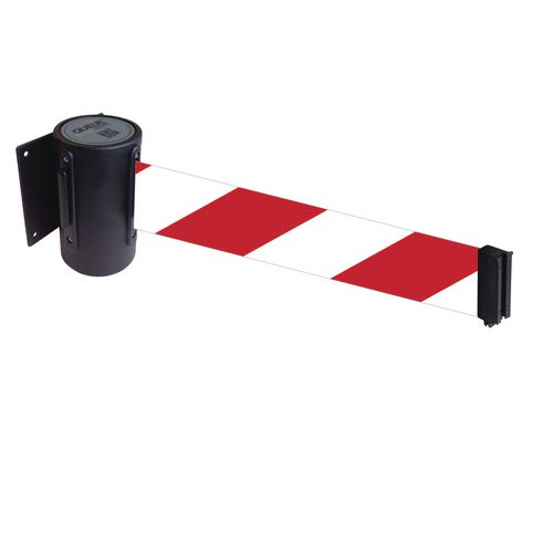 Wallmaster 400 Black Retractable Wall Mount Red/White Dia