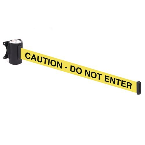 Wallmaster 400 Caution  Do Not Enter 4.6M Yellow Webbing With Black Print