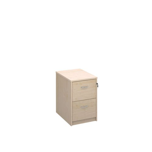 Deluxe Executive 2 Drawer Filing Cabinet In Maple Anti Tilt Fully Locking Supplied With Handles Accepts Foolscap Onl
