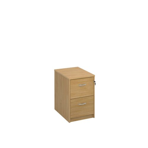 Deluxe Executive 2 Drawer Filing Cabinet In Oak Anti Tilt Fully Locking Supplied With Handles Accepts Foolscap Onl
