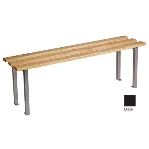 Classic Mezzo Bench 1500x325mm 3 Legs Black