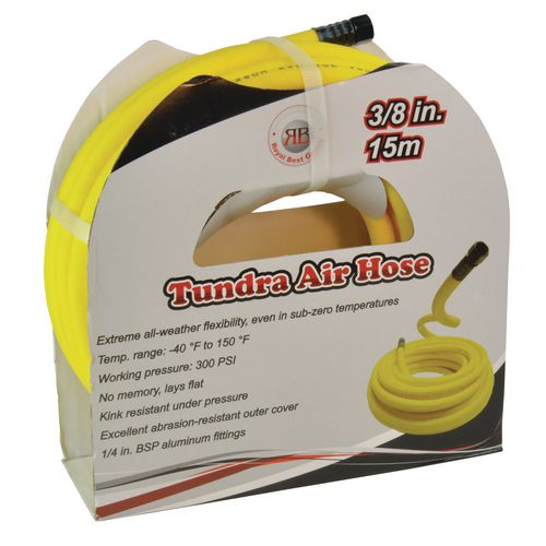 15 Metre Longflexible Polymer Air Hose Yellow