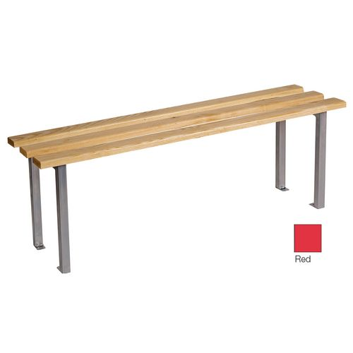 Classic Mezzo Bench 1000x325mm 2 Legs Red