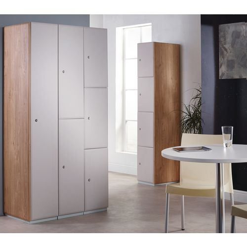 Executive Laminate Door Locker 1800x300x450 2 Compartment Kashmir Doors