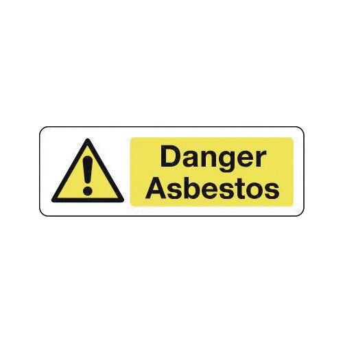Sign Danger Asbestos 300X100 Vinyl