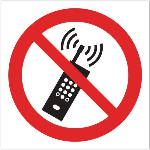 Sign No Mobile Phone Pic 200x200 Vinyl
