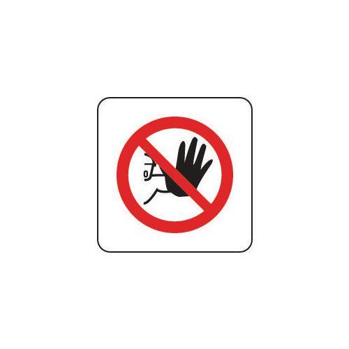 Sign No Admittance Pictorial 100x100 Vinyl