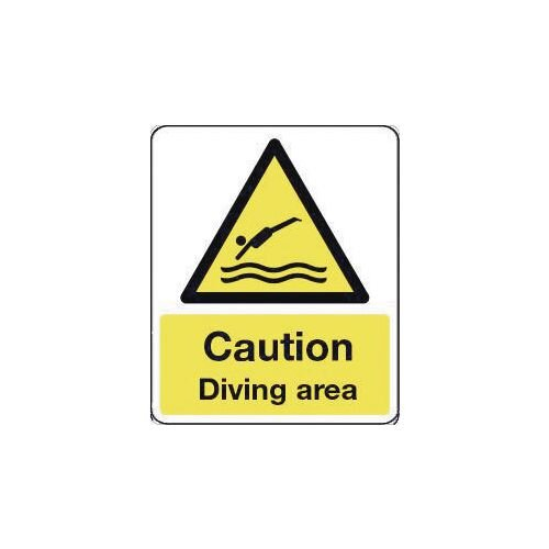 Sign Caution Diving Area 600X450 Vinyl