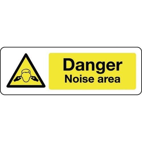 Sign Danger Noise Area Self-Adhesive Vinyl 400x600