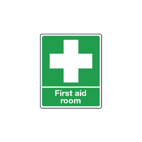 Sign First Aid Room Self-Adhesive Vinyl 250x300