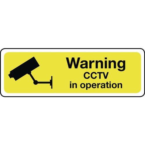 Warning Cctv Self-Adhesive Vinyl 600x200