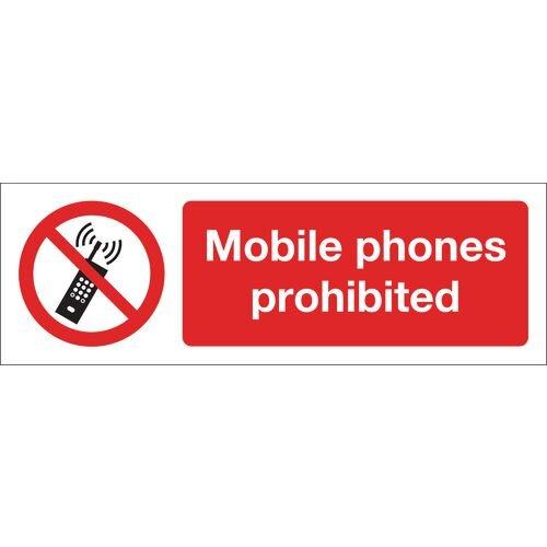Mobile Phones Prohibited Self-Adhesive Vinyl 600x200
