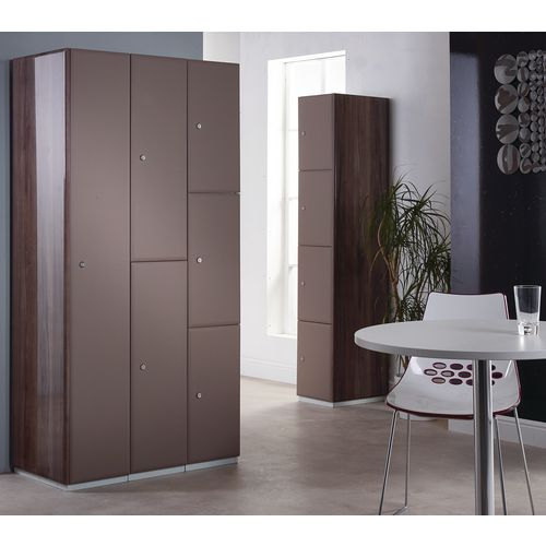 Executive Laminate Door Locker 1800x380x380 2 Compartment Grey-Brown Doors