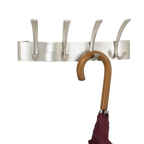 Curve Coat Rack 4 Hook Silver (Sl)