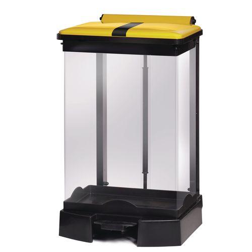 65 Litre All Plastic Removable Clear Body Fire Retardant Sack Holder Tiger Stripe Lid