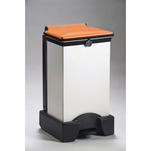 65 Litre All Plastic Removable Body Fire Retardant Sack Holder With Orange Lid