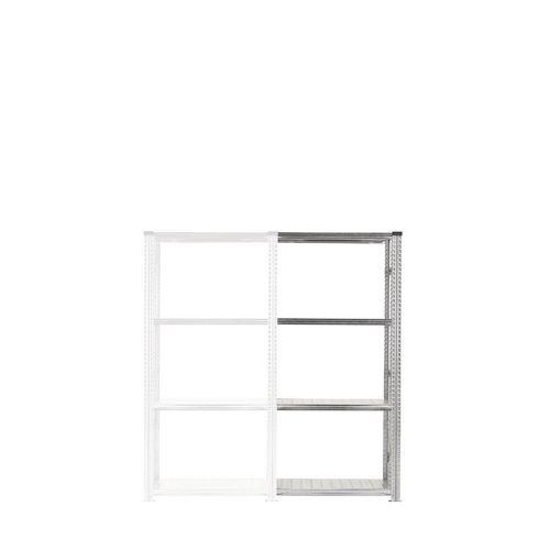 Zinc Plated Boltless Steel Shortspan Shelving Add-On Bay HxWxD 2000x900x500mm - 4 Shelf Levels, 185kg Shelf Capacity
