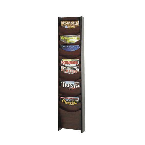 Mahogany Wall Literature Dispensers 12 Pockets