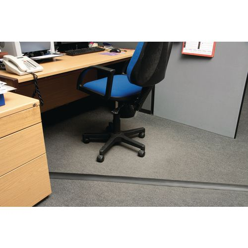 Light Duty Floor Cable Cover Black 60mm Wide 9M Length