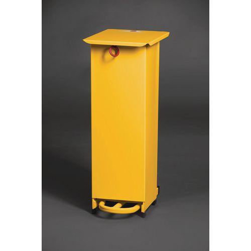 20 Litre Metal Fixed Body Fire Retardant Sack Holder In Yellow