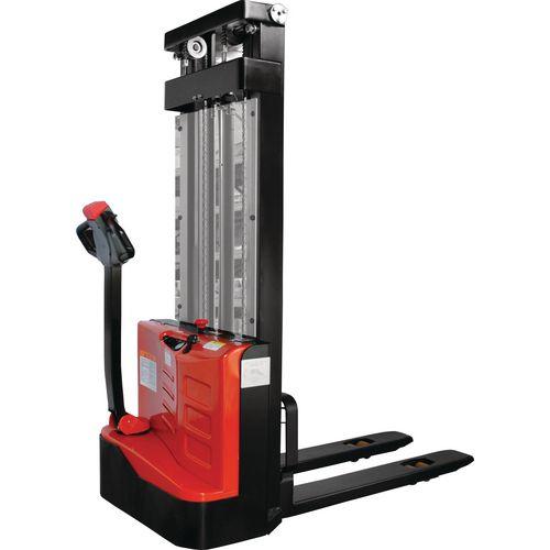 Fully Electric Stacker 1000Kg Duplex Mast 3000mm Lift