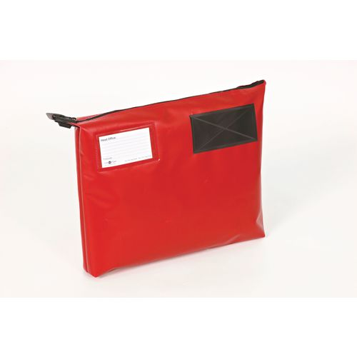 Bottom Gusset Pouch Red 380x335x75mm
