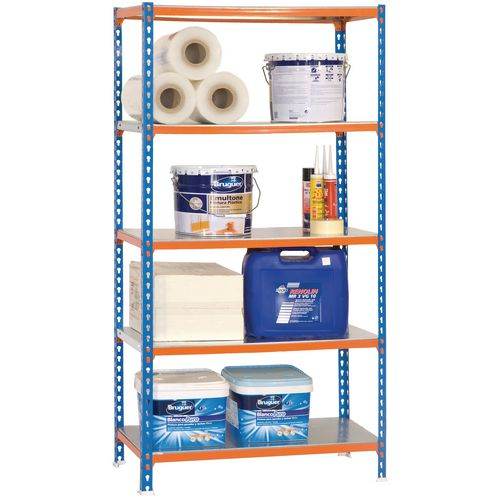 Shelving Kit 5/500 Blue/Orange/Galvanized