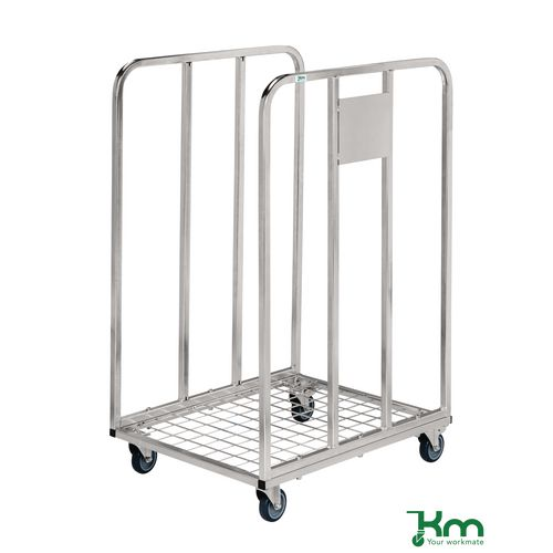 Low Height Roll Container LxWxH 530x630x1000mm. Bright Zinc Plated Finish