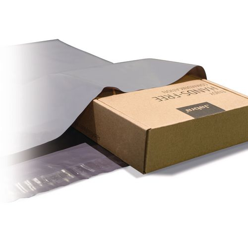 Polythene Grey Mailing Bags 525x600mm With 50mm Flap 50Mu,