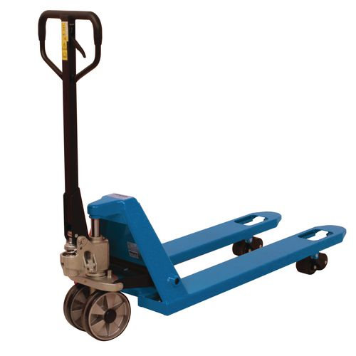 2 Tonne Quick Lift Pallet Truck 685x1220 Rubber Front Wheels &Tandem Poly Rollers