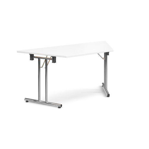 Deluxe Trapezoidal Folding Leg White Meeting Table
