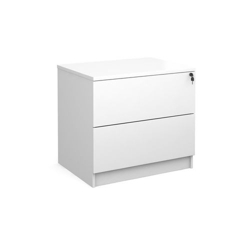 Executive 2 Drawer Side Filer In White With 4 Handles