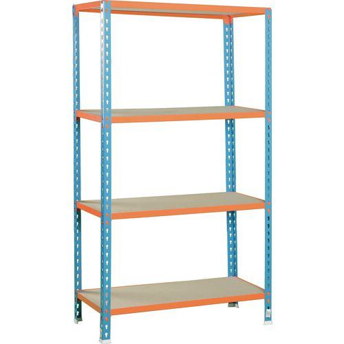 Simonclick Standard Duty Boltless Chipboard 4 Shelf Unit HxWxD 2000x1200x500mm - 175kg Shelf Capacity, 5 Year Guarantee