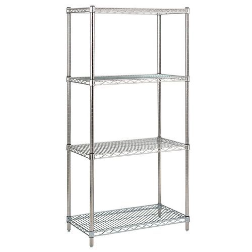 Stainless Steel Shelving HxWxDmm 1650x1000x400 With 4 Shelves